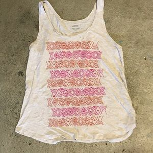 Old Navy Relaxed Fit Tank Top, Pink and Orange